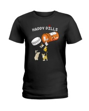 Cat happy pills Ladies T-Shirt thumbnail