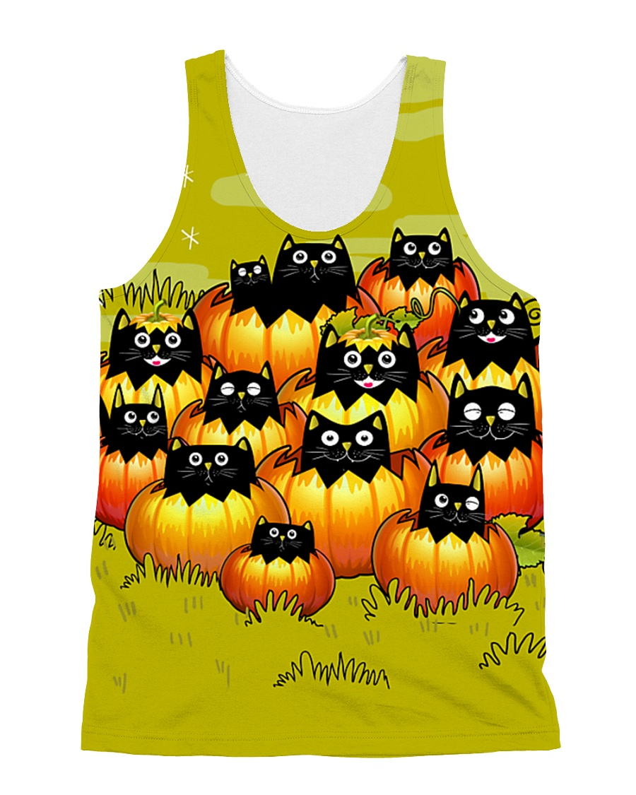More Black Cats All-over Unisex Tank