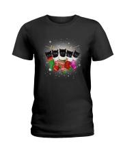 Black cat socks 111 Ladies T-Shirt thumbnail