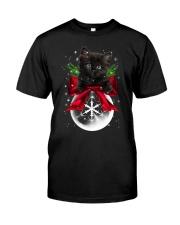 Black cat Christmas Classic T-Shirt thumbnail
