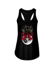 Black cat Christmas Ladies Flowy Tank thumbnail