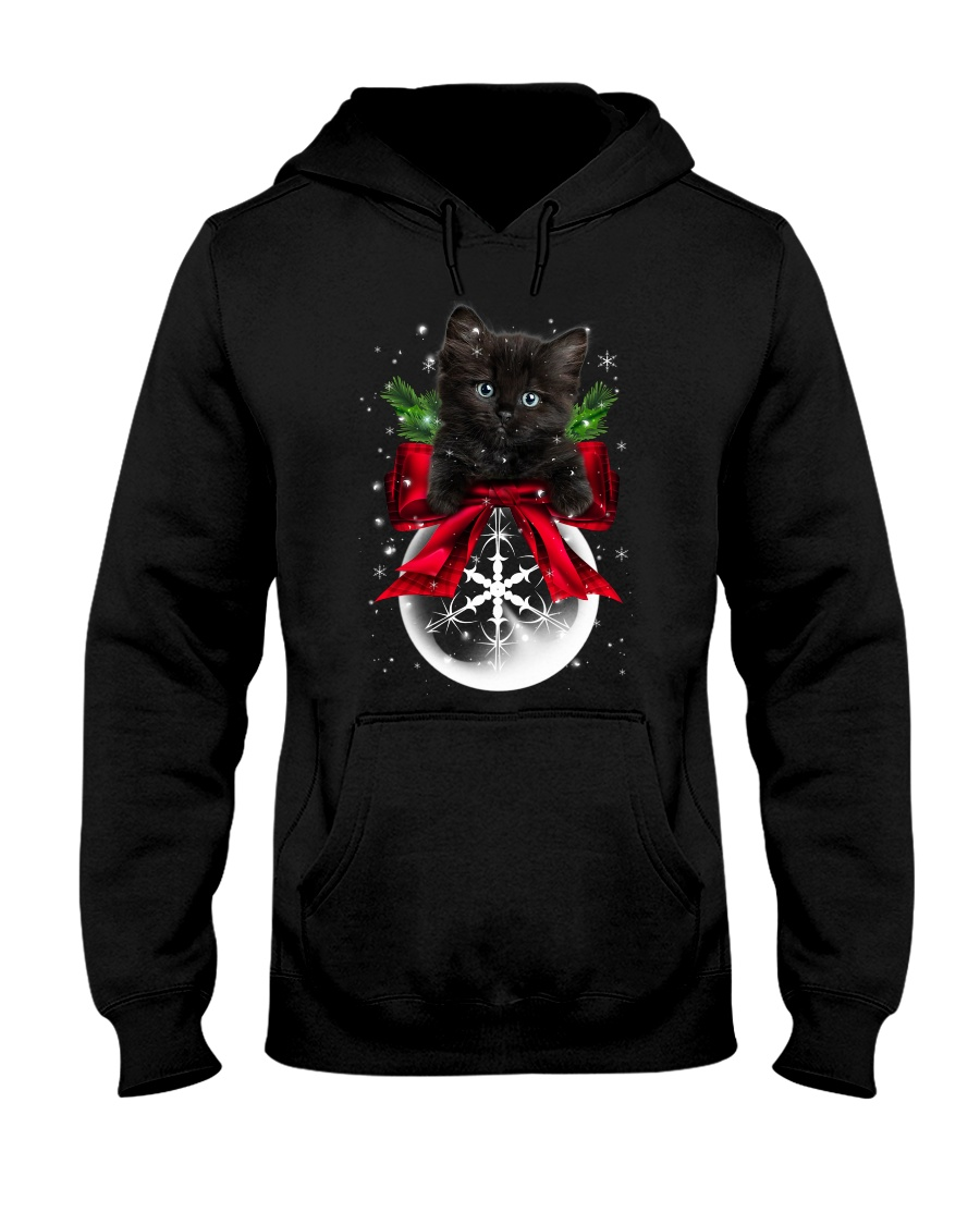 Black cat Christmas Hooded Sweatshirt
