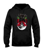 Black cat Christmas Hooded Sweatshirt front