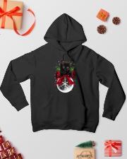 Black cat Christmas Hooded Sweatshirt lifestyle-holiday-hoodie-front-2