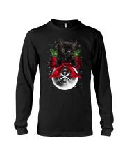 Black cat Christmas Long Sleeve Tee thumbnail