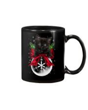 Black cat Christmas Mug thumbnail