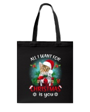 Cat for Christmas Tote Bag thumbnail