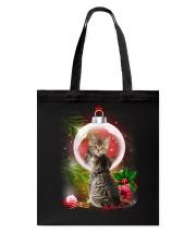 Cat Looking Ornament Christmas Tote Bag thumbnail