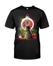 Cat Looking Ornament Christmas Classic T-Shirt thumbnail
