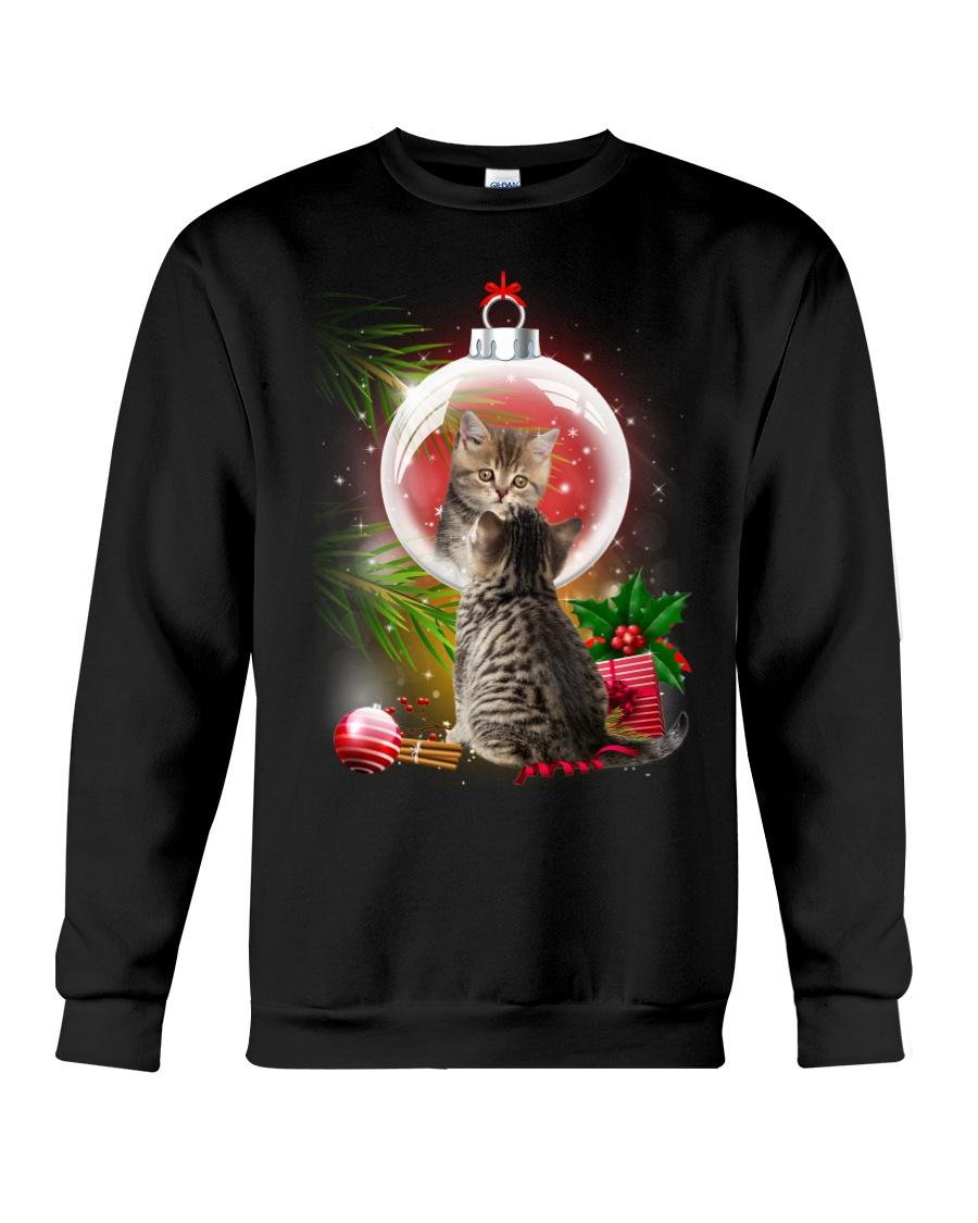Cat Looking Ornament Christmas Crewneck Sweatshirt
