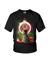 Cat Looking Ornament Christmas Youth T-Shirt thumbnail