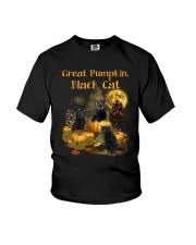 THEIA Black Cat Pumpkin 2307 Youth T-Shirt thumbnail
