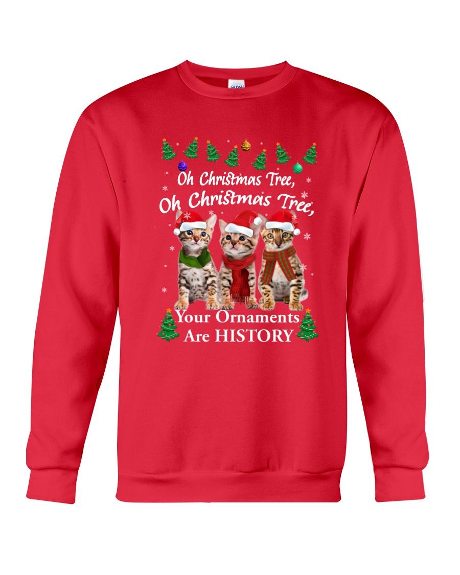 Bengal Cat Ornaments Tree 2210  Crewneck Sweatshirt