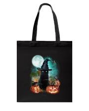Black cat and moon Halloween Tote Bag thumbnail
