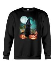 Black cat and moon Halloween Crewneck Sweatshirt thumbnail