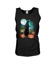 Black cat and moon Halloween Unisex Tank thumbnail