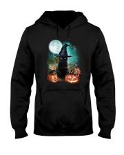 Black cat and moon Halloween Hooded Sweatshirt thumbnail