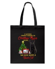 Black cat and Christmas movies Tote Bag tile
