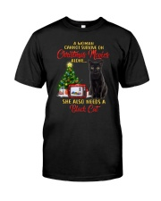 Black cat and Christmas movies Classic T-Shirt thumbnail