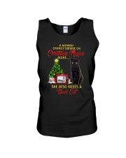 Black cat and Christmas movies Unisex Tank thumbnail