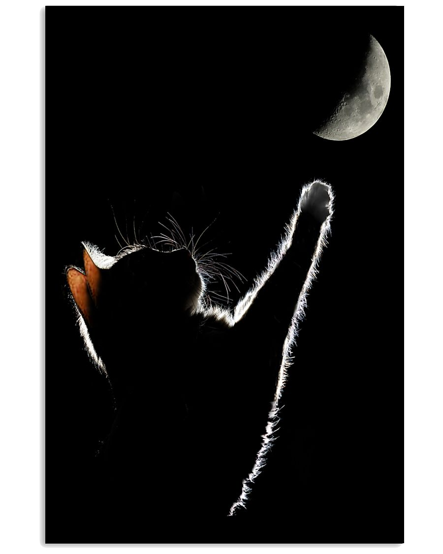 Cat Chasing The Moon 11x17 Poster