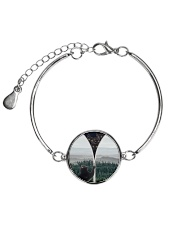 Black cat - What is inside Metallic Circle Bracelet thumbnail