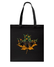Black Cat Leaf Tote Bag thumbnail