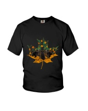 Black Cat Leaf Youth T-Shirt thumbnail