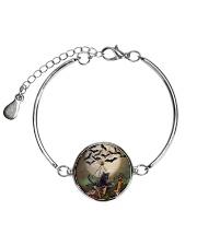 Blackcat Flying Batwing  Metallic Circle Bracelet thumbnail