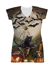 Blackcat Flying Batwing  All-over Dress thumbnail