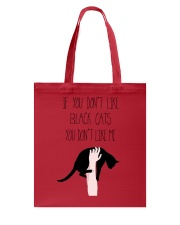 Black Cat Love Tote Bag thumbnail