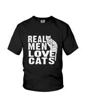 Cat real men 0611 Youth T-Shirt thumbnail