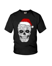Cat skull christmas 2410 Youth T-Shirt thumbnail