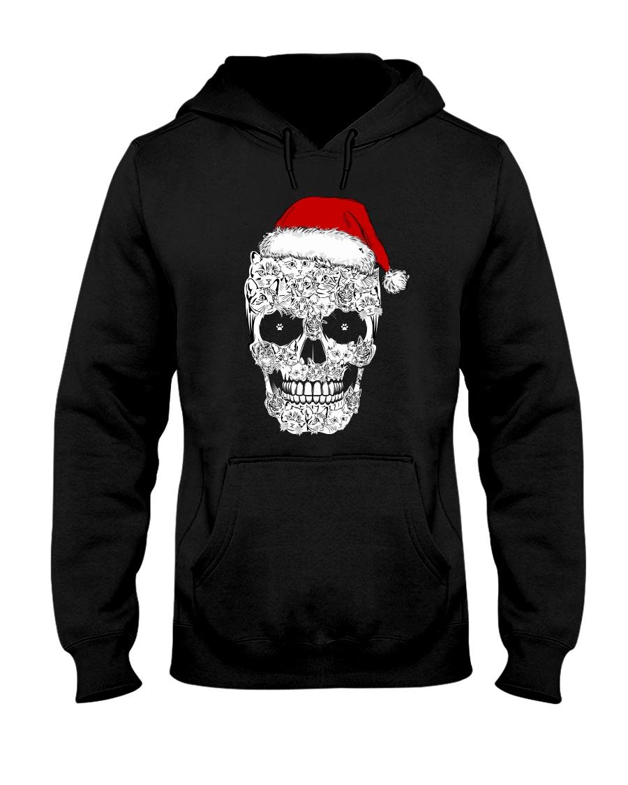 Cat skull christmas 2410 Hooded Sweatshirt