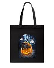 Black Cat in pumpkin carriage 0208 Tote Bag thumbnail