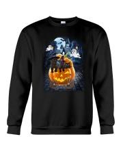 Black Cat in pumpkin carriage 0208 Crewneck Sweatshirt thumbnail