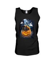 Black Cat in pumpkin carriage 0208 Unisex Tank thumbnail