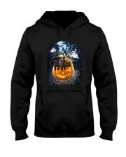 Black Cat in pumpkin carriage 0208 Hooded Sweatshirt thumbnail