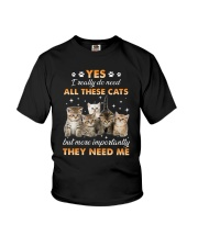 Cat I really do need 1608 Youth T-Shirt thumbnail