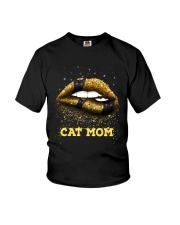 Black Cat Mom Youth T-Shirt tile