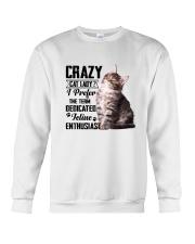 Crazy cat Lady 1910 Crewneck Sweatshirt thumbnail