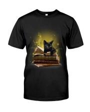 Black Cat My New Bookmark Classic T-Shirt front