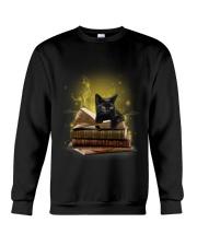 Black Cat My New Bookmark Crewneck Sweatshirt thumbnail