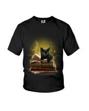 Black Cat My New Bookmark Youth T-Shirt thumbnail