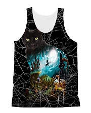 Black Cat Halloween  All-over Unisex Tank front