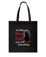 Little black cat Tote Bag thumbnail