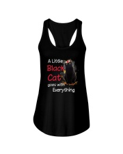 Little black cat Ladies Flowy Tank thumbnail