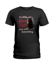 Little black cat Ladies T-Shirt thumbnail