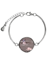 Sphynx Cat Striped  Metallic Circle Bracelet thumbnail