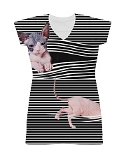 Sphynx Cat Striped  All-over Dress thumbnail